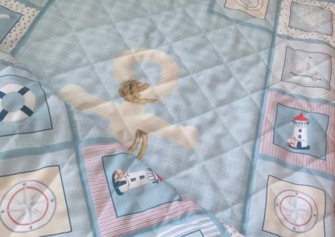 Cтёганое покрывало Голубое море для ребёнка