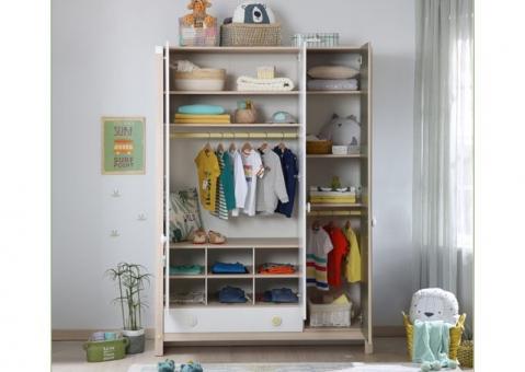 Шкаф трехдверный Montessori Cilek белый 20.68.1002.00