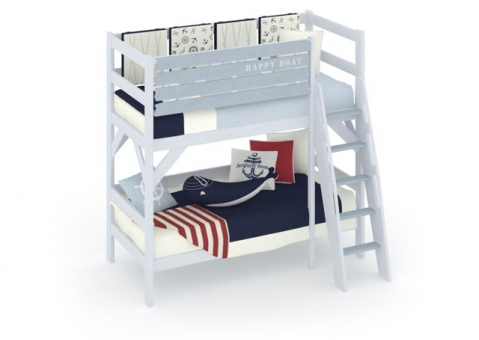 Двухъярусная кровать Белый Кит