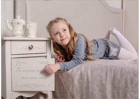 Кровать Прованс с изголовьем и балдахином