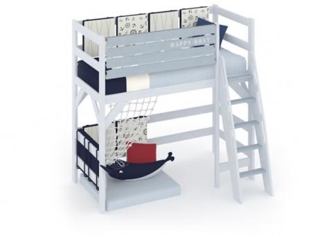 Кровать чердак Белый Кит
