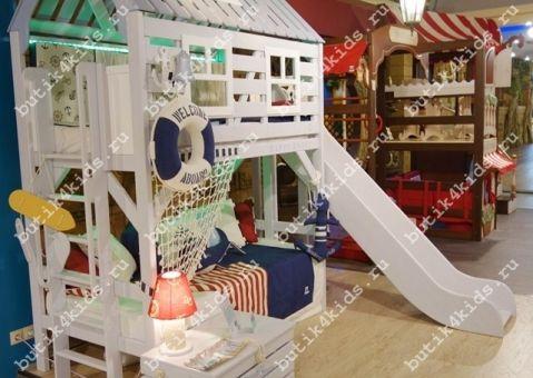 Кровать-домик Белый Кит большая