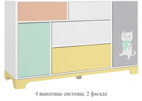 Модуль закрытый Фанни Банни с 4 выкатными системами АртF4570