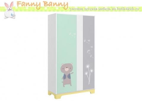 Шкаф малый Фанни Банни с росписью Мишка