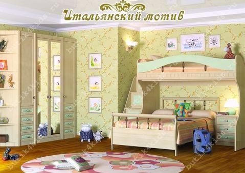 Шкаф двухдверный Итальянский мотив Гармония (зеркало)