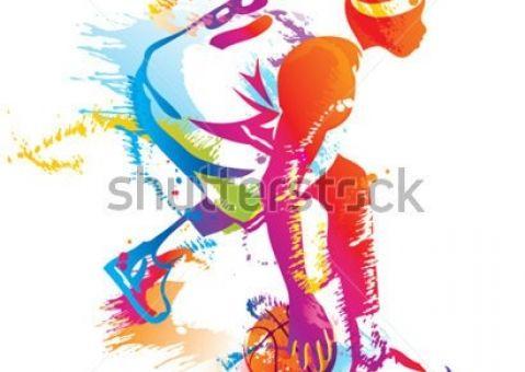 Фотообои Цветной воллейболист