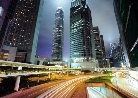 Фотообои Ночной мегаполис