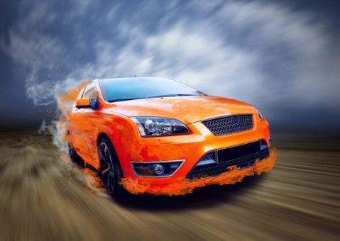 Фотообои Оранжевый суперкар