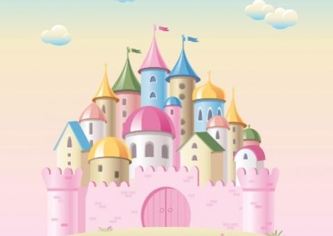 Фотообои Розовый замок для девочки