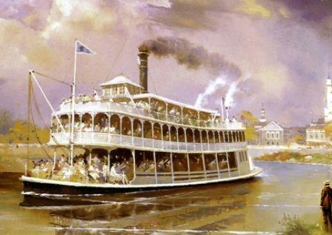 Фотообои-картина Старинный пароход