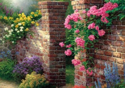 Фотообои-картина Вход в розовый сад
