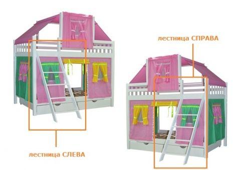 Детская двухъярусная кровать Воробушка