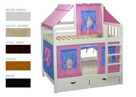 Детская игровая двухъярусная кровать Скворушка