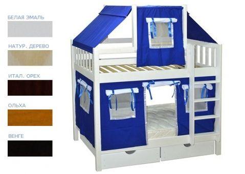 Детская игровая двухъярусная кровать Скворушка-1