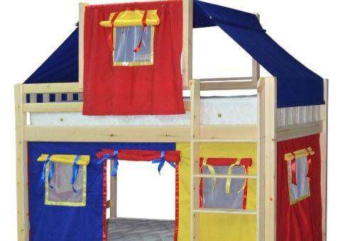 Детская игровая двухъярусная кровать Скворушка-2