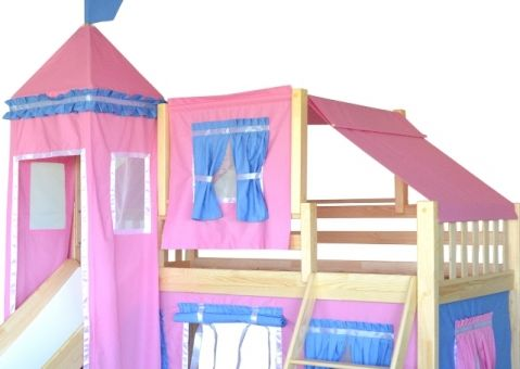 Кровать-чердак игровая с горкой Рыцарь 3