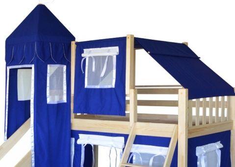Кровать-чердак игровая с горкой Рыцарь 5