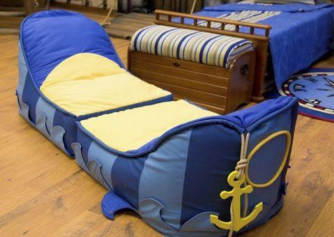 Мягкие кресла-корабль Морской стиль