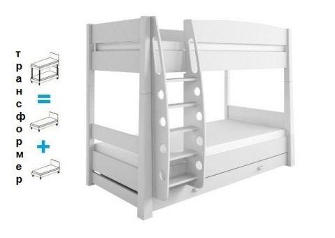 Двухъярусная кровать Бьянко Мобиле, Бьянко Фиоре