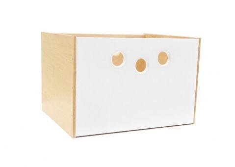 Коробка для стеллажей (белая) Меблик