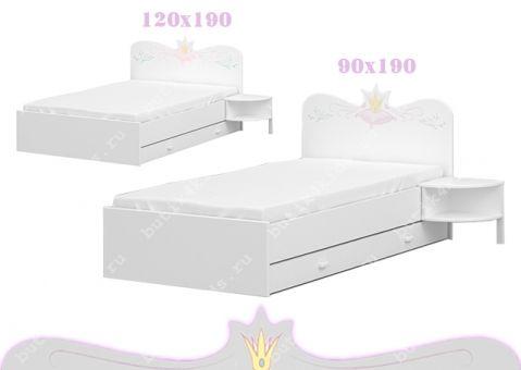 Кровать Принцесса Меблик 190х90, 190х120