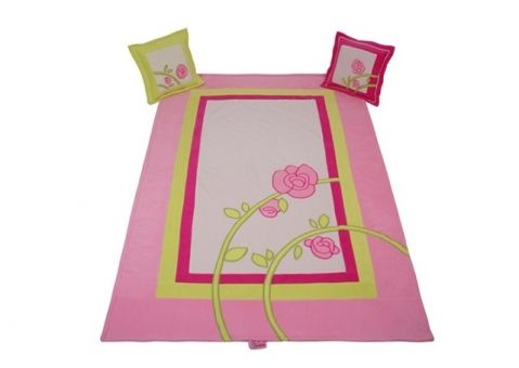Покрывало + 2 подушки Роза
