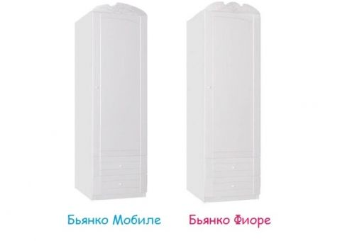 Шкаф 60 Бьянко Мобиле, Бьянко Фиоре