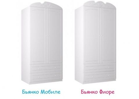 Шкаф 90 Бьянко Мобиле, Бьянко Фиоре