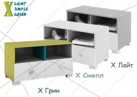 Тумба под ТВ 100 X Лайт Симпл Грин
