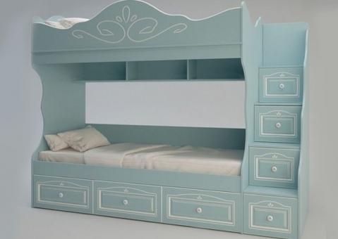 Мебель Ромео с двухъярусной кроватью для 2 детей