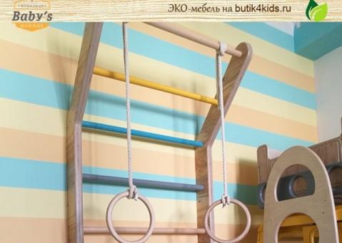 Шведская стенка из дерева Baby's Garage