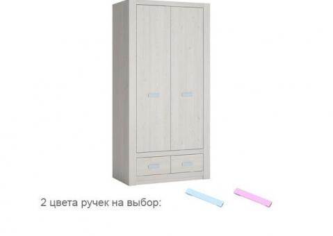 Двухдверный шкаф LILO WOJCIK с фактурой дерева