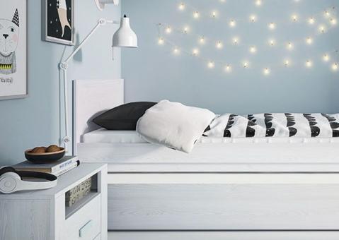 Кровать LILO WOJCIK с фактурой дерева