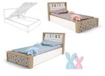 Детская кровать MIX BUNNY ABC-King №5 с подъемным механизмом