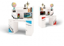 Компьютерный стол ЛаМан ABC-King с надстройкой