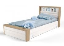 Кровать MIX BUNNY ABC-King №4 с ящиком и мягким изножьем