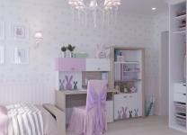 Кровать MIX BUNNY ABC-King №6 с подъемным механизмом и мягким изножьем