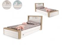 Кровать MIX OCEAN ABC-King №4 с ящиком и мягким изножьем