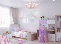 Мебель MIX BUNNY ABC-King pink для девочек с зайчиками