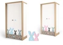 Шкаф двухдверный MIX BUNNY ABC-King детский