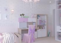 Стеллаж широкий MIX ABC-King розовый и голубой