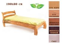 Кровать Буковка из дерева 190x80