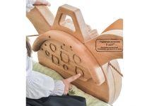 Кровать самолёт Пилот двухъярусная из дерева