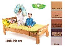 Кровать со спинкой Буковка из дерева