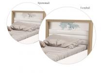 Кровать MIX OCEAN ABC-King №2 с мягким изножьем