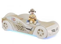 Кровать машина Мишки Адвеста для девочки