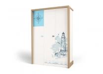 Шкаф трехдверный MIX OCEAN ABC-King морской