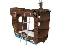 Кровать-корабль Черная Жемчужина двухъярусная