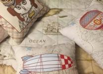 Декоративные подушки Зверята-пилоты для мальчика