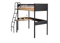Кровать-чердак со столом Black и White Cilek арт. 1402